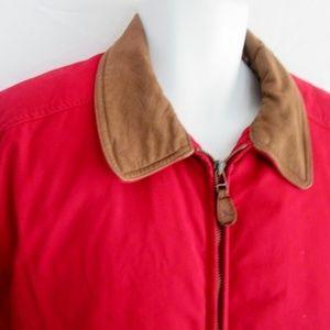Eddie Bauer Jackets & Coats - EDDIE BAUER Down JACKET Coat RED Leather